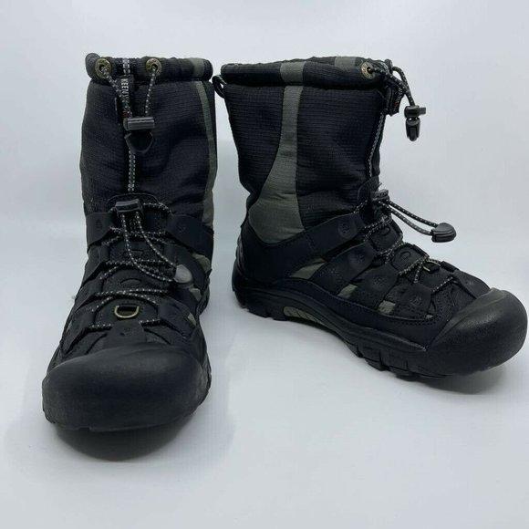 Keen Womens Winterport II Snow Boots Black Leather